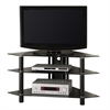 "Walker Edison 44"" Black Glass Corner TV Stand"