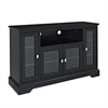"Walker Edison 52"" Black Wood Highboy TV Stand"