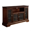 "Walker Edison 52"" Brown Wood Highboy TV Stand"
