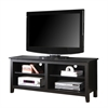 "Walker Edison 58"" Black Wood TV Stand Console"