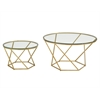 Geometric Glass Nesting TV Stands & Entertainment Centers - Gold