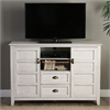 "Walker Edison angelo:HOME 52"" Rustic Chic TV Console - White Wash"