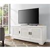 "Walker Edison angelo:HOME 52"" Louvered Door TV Console - White Wash"