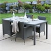angelo:HOME 5-Piece Rattan Patio Dining Set - Grey