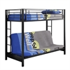 Walker Edison Twin over Futon Metal Bunk Bed - Black