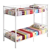 Walker Edison Twin Metal Bunk Bed - White