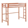 Walker Edison Bentley Twin Metal Loft Bed - Coral