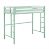 Walker Edison Bentley Twin Metal Loft Bed - Mint
