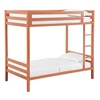 Bentley Twin over Twin Metal Bunk Bed - Coral
