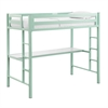 Bentley Twin Metal Loft Bed with Workstation - Mint