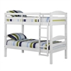 Walker Edison Twin Solid Wood Bunk Bed - White