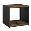"""24"""" Steel Plate and Wood Side Table"""