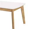 Retro Modern Coffee Table - White/Natural