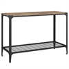 Angle Iron Rustic Wood Sofa Entry Table - Barnwood