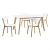 Walker Edison 5- piece Retro Modern Wood Dining Set