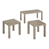 Essential Wood 3-Pack Coffee Table - Driftwood