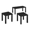 Essential Wood 3-Pack Coffee Table - Black