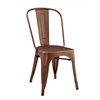 Walker Edison Metal Café Chair - Bronze