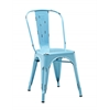 Metal Café Chair - Azure Blue
