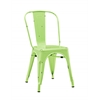 Metal Café Chair - Spring Green