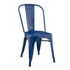 Walker Edison Metal Café Chair - Navy Blue