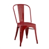 Metal Café Chair - Red