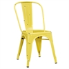 Walker Edison Metal Café Chair - Antique Yellow