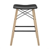 Walker Edison Retro Modern Faux Leather Counter Stool