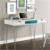 "Walker Edison 48"" Color Accent Computer Desk - Aqua Blue"