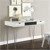 "Walker Edison 48"" Color Accent Computer Desk - Grey"