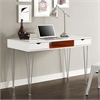 "Walker Edison 48"" Color Accent Computer Desk - Orange"
