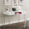 "Walker Edison 48"" Color Accent Computer Desk - Hot Pink"