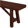 "60"" Solid Wood Trestle Dining Bench - Espresso"