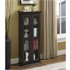 "Walker Edison 41"" Espresso Wood Media Tower Cabinet"