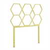 Walker Edison Honeycomb Twin Size Headboard - Yellow