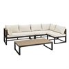 Walker Edison 4-Piece All-Weather Patio Conversation Set - Natural