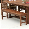 Acacia Wood Patio Bench - Dark Brown