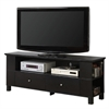 "Walker Edison 60"" Black Wood TV Stand Console"
