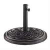 Circle Weave Round Umbrella Base - Antique Bronze