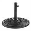 Circle Weave Round Umbrella Base - Black