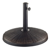 Wicker Style Round Umbrella Base- Antique Bronze