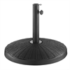 Walker Edison Wicker Style Round Umbrella Base- Black