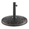 Walker Edison Cross Weave Round Umbrella Base - Antique Bronze