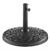 Walker Edison Cross Weave Round Umbrella Base - Black