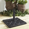 Walker Edison Square Umbrella Base - Antique Bronze