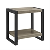 "Walker Edison 24"" Urban Blend Side Table - Driftwood/Black"