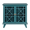 "32"" Gwen Fretwork Accent Console - Blue"