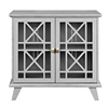 "32"" Gwen Fretwork Accent Console - Gray"