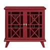 "32"" Gwen Fretwork Accent Console - Red"