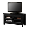 "Walker Edison 44"" Black Wood TV Stand Console"